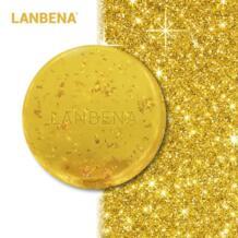 24 K золото мыло ручной работы Гиалуроновая кислота для очистки лица увлажняющий крем восстановление и Отбеливание анти-стоны Winkles Мыло для лица LANBENA 32884046311