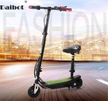 Электрический скутер для взрослых два колесных электрических скутеров задний тормоз мини 24 в портативный Foldabe Kick детей Daibot 32882523622