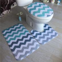 геометрический Коврик для ванной 3 шт./компл. коврик для ванной коврик для ног Противоскользящий коврик для ванной абсорбирующий коврик напольный коврик для туалета ZEEGLE 32840285924