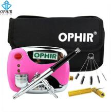 OPHIR мини набор воздушных компрессоров с двойным действием Аэрограф и чистящие инструменты для Временной Татуировки ногтей Art_AC (002G + 004 + 023 + 035 + 080) PHR 32769433987