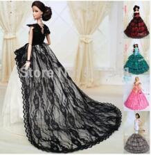 Бесплатная доставка Новое поступление кукла Интимные аксессуары свадебное платье праздничная одежда Белая юбка для куклы Барби DoubleWood 1989456599