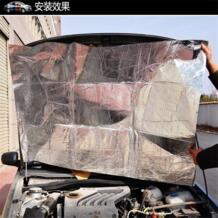 Клей обратно в прокат Двигатели для мотоциклов turbo тепла проверки изоляции шумоизоляция щит 4 мм alumium капот горячей барьер 1.4 м x 1 м 3ftx4. 6ft No name 32844567192