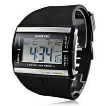 Водонепроницаемый Для мужчин светодиодный Подсветка черный спортивные цифровые часы кварцевые Военные Наручные часы Поддержка оптовая продажа No name 32258585041