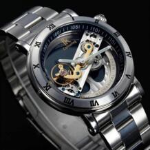 Оригинальные механические наручные часы Tourbillon для мужчин, люксовый бренд, бизнес, скелет, автоматические мужские часы, Топ бренд relojes, новинка SHENHUA 32481967820