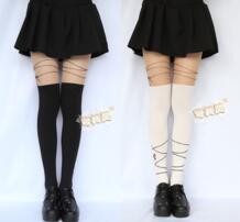 Мягкие Ленты колготки для новорождённых винтажные колготки Японии обувь девочек Лолита пикантные колготки девочек колготки для девочек и женщин No name 32257538257