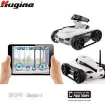 Wifi RC Гусеничный Танк Радиоуправляемый автомобиль в режиме реального времени камера автомобили для iPhone iPad iPod App с 0.3MP камерой электронная Игрушечная модель hugine 32701797549