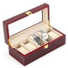 MDF деревянный дисплей часов коробка светло-красный брендовая коробка для часов модные часы Организатор хранения данных Ювелирная Подарочная коробка для Для мужчин и WomeW014 SAIKE 32778938873
