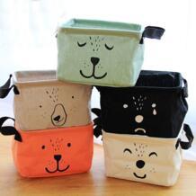 Мультяшные хлопковые льняные складные игрушки корзина для хранения одежды бюстгальтер Галстук Носки Органайзер посуда Косметический Складной Мешок Для Хранения Корзины OUSSIRRO 32807992101