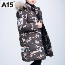 Детские зимние куртки для мальчиков-подростков, Детские хлопковые парки, длинное пуховое пальто 2018, теплая камуфляжная верхняя одежда для детей 8, 10, 12 лет A15 32878730235