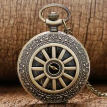 Ретро Бронзовый корпус крутой черный циферблат кварцевые карманные часы мужские Женская подвеска цепь-in Карманные часы from Ручные часы on Aliexpress.com | Alibaba Group YISUYA 32353277256