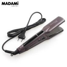 Корейский Керамика быстрый нагрев Flat Iron широкий плиты выпрямитель для волос двойной Напряжение светодиодный плавающий Инструменты для укладки MADAMI 32806142158