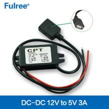 Бесплатная доставка 12 В до 5 В DC-DC автомобилей питания step down доллар модуль USB порт выход No name 558344576