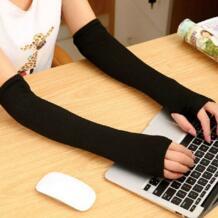 Модные женские туфли Леди трикотажные длинные перчатки без пальцев запястье руки теплые зимние SANWOOD 32728026229