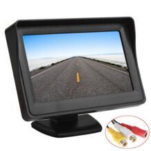 Продажа 4,3 дюймов цветной TFT lcd Автомобильный Монитор 480x272 цифровая панель с 2Ch видео вход для камеры заднего вида или DVD gps No name 1801069124