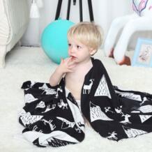 Вязаное детское одеяло хлопок 75x100 см супер мягкий для ванной полотенца новорожденных зимние пеленать обёрточная бумага товары naheber 32796490999