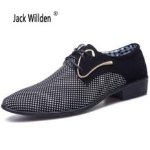 офисные Для мужчин платье костюм обувь Итальянский Стиль Свадебная повседневная обувь в стиле Дерби кожаные мужские туфли мужская обувь Jack Willden 32795791065