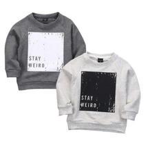 Осенняя одежда для маленьких мальчиков и девочек, теплая хлопковая толстовка с капюшоном, спортивный пуловер, одежда для детей No name 32718765340