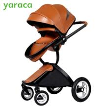 Роскошные Коляски для ребенка складной Портативный коляски для новорожденных Многофункциональный Высокая Пейзаж Детские коляски от лета к зиме No name 32804566493