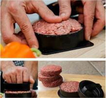 Руководство гамбургер пирожок чайник антипригарным Пэтти Мясо Формы Burger пирожки чайник Пресс котлеты мягкие формы Гриль Кухня инструменты No name 32907800827