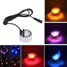 12 светодиодный Красочные Свет ультразвуковой туман Maker Fogger очищения фонтан воды Пруд Крытый Открытый 1A/24 В ABS легко для работы No name 32848839342