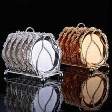 Изысканный торт лоток набор посуды стойку набор 6 в 1 золото/серебро Мода для кекса мини-снэк-лоток сушеные фрукты поддон десерт MQMY 32834149937