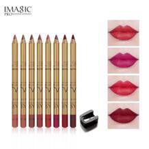 Бренд , 8 цветов, новый карандаш для губ, набор для макияжа, натуральный водонепроницаемый устойчивый карандаш для губ, карандаш для макияжа, косметика IMAGIC 32853653014