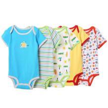5 шт./партия, детские комбинезоны с короткими рукавами, Комбинезон для мальчика, детский хлопковый комбинезон для новорожденных, комбинезоны и комбинезоны No name 32306353666