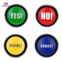 Да Нет извините может Кнопка кляп звук кнопка игрушка розыгрыш событие вечерние инструмент Образование Детские игрушки и хобби MUQGEW 32898319887