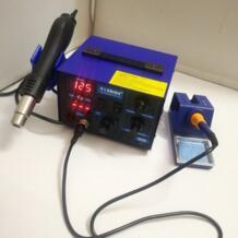 Saike 952D 2 в 1 наладочная станция для пайки горячий воздушный пистолет + паяльник 760 Вт 100-480 C 110 В/220 В UZHIMEJIXIE 32879759360