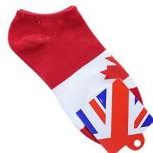 Новый стиль пара красный и белый кленовый лист Канада флаг шаблон Носки для девочек для Для мужчин HNSD 32655579131