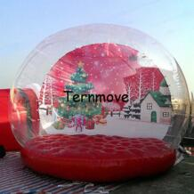 Бесплатная доставка горячей продажи 3 м надувные новогодние снежный шар всплывающие купольная палатка ternmove 32746826639