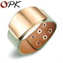 ОПК 30 мм Ширина Обёрточная Бумага браслет для женщины OL Стиль Кожаные браслеты и браслеты Мода Регулируемая Прохладный Для женщин Jewelry PH1009 OPK 32591000479