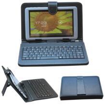 """Универсальный проводной usb 7 дюймов кожа case клавиатура для samsung tab 2 7 """"T210 T211 P3200 Tab 3 P3100 P3110 С Защитным Стенд No name 1557442228"""