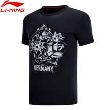 (Распродажа) Мужская трендовая футболка удобные Германия черные футболки 100% хлопок подкладка Спортивная футболка Топы AHSN183 MTS2774 li-ning 33061175190