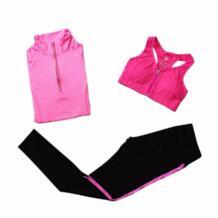 Новинка! 5 цветов быстросохнущая Одежда для бега впитывает пот спортивный бюстгальтер и Брюки для девочек и куртка тренажерный зал Фитнес Спорт Йога комплект спортивный костюм Aolikes 32842117569