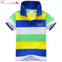 6 цветов Детская футболка для маленьких мальчиков multi Цвет короткий рукав в полоску хлопковые топы Блузка подходит для декорирования No name 32354617462