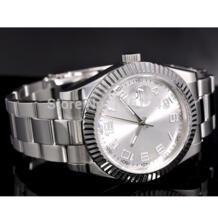 Винтажные автоматические мужские часы с белым циферблатом 40 мм P25 watch boat watch senna watch moon - AliExpress Parnis 1949919526