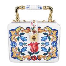 Модные дизайн Элегантный белые розы печати керамика ручка для женщин сумки сумка мини большая сумка через плечо, сумка кошелек SCXLaiSC 32740121808