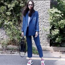 Высококачественные двойные приталенные пиджаки блейзеры, брюки, костюмы весна и осень, винтажные тонкие повседневные Модные женские блейзеры и куртки zeongro 32886071002