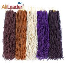 Alileader Мини искусственной Locs вьющиеся крючком волос Синтетические плетение волос чистый ошибки блондин черный Цвет для Для женщин высокое Температура волокно No name 32896313300