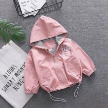 Для маленьких мальчиков и девочек Одежда для новорожденных девочек Осенняя Куртка Верхняя одежда Одежда для маленьких мальчиков с капюшоном для малышей ветровка пальто Куртки BarbieRabbit 32878384869