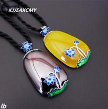Kjjeaxcmy Fine Jewelry 925 тайский серебро Гранат агат цветок Подвески Дамы новая атмосфера No name 32840944695