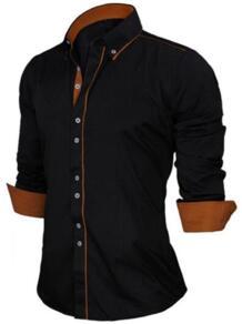 европейский размер Мужская рубашка 2017 Новинка 100% хлопок тонкий Бизнес Повседневная брендовая одежда с длинными рукавами Chemise Homme N356 VISADA JAUNA 32471132445