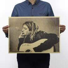 Кобейн Нирвана фронтмен курительная оберточная бумага в винтажном стиле постер для декорации дома художественные журналы ретро-плакаты и принты No name 32907396742
