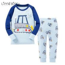 Новые пижамы с длинными рукавами для мальчиков с изображением машины, детская одежда для сна с изображением единорога, детская одежда для сна, Детские пижамные комплекты, пижамы для детей 2-8 лет Little Bitty 32800754263