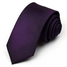 Доставка с подарочной коробке Новинка 2018 модные галстуки для Для мужчин 7 см Британский стиль фиолетовый галстук градиент Повседневное Галстуки Марка No name 1386742305
