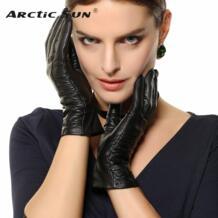 Лидер продаж Для женщин из натуральной кожи перчатки наручные зима козьей перчатки для женщин 3 цвета овчины Drivng Утепленная одежда L124NQ No name 2052058899