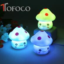 Tofoco Симпатичные гриб ночь игрушка светодиодные фонари детская Новинка свет Игрушечные лошадки милый сон свет детские, для малышей комнаты Игрушечные лошадки No name 32749170468