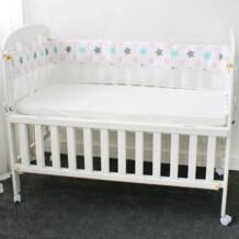 1 шт сетка бортики для кроватки дышащая Звезда Корона дерево облако детская Колыбелька лайнер детская кроватка кровать вокруг протектор No name 32829960680