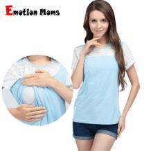 Emotion Moms летняя одежда для кормления с коротким рукавом Блузка для кормления топы для беременных женщин футболки для беременных No name 1193032229